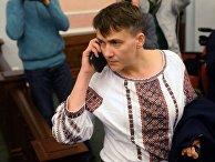 Депутат Верховной рады Надежда Савченко на заседании Верховного суда РФ