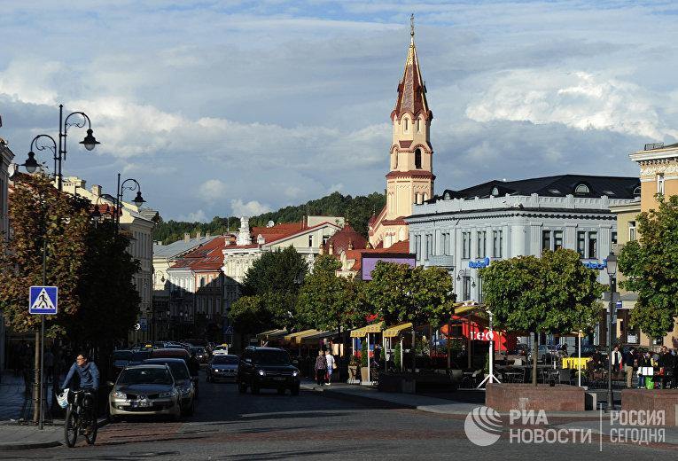 На одной из улиц Вильнюса, Литва