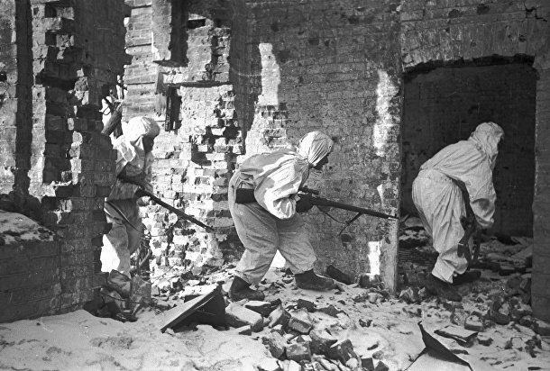Снайперы во время Сталинградской битвы