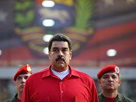 Президент Венесуэлы Николас Мадуро в аэропорту Каракаса