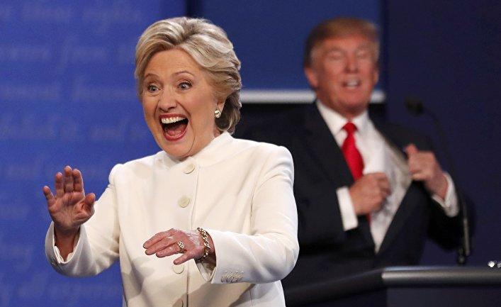 Клинтон сохранила отрыв врейтинге отТрампа