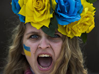 Демонстрация в поддержку украинских протестов в Мадриде