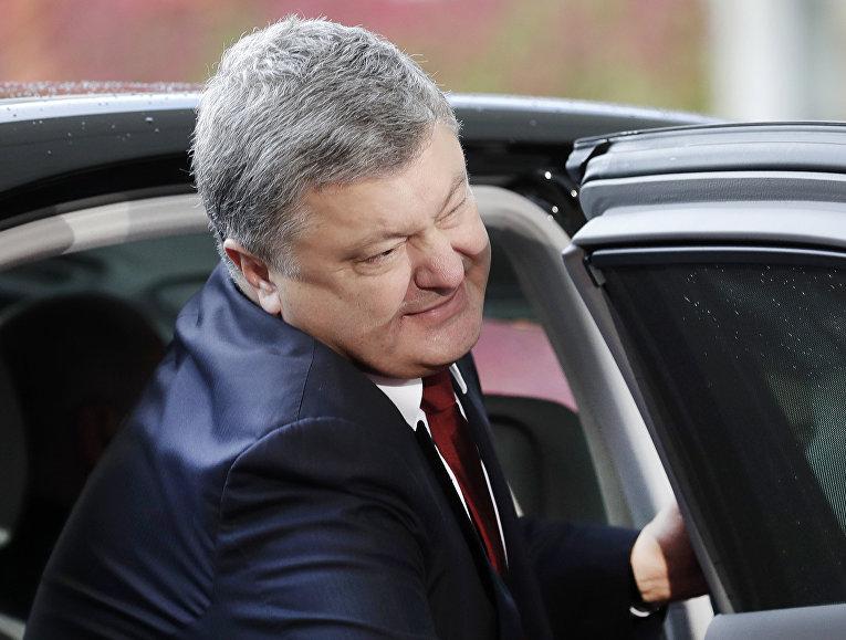 Президент Украины Петр Порошенко на саммите с лидерами России, Украины и Франции