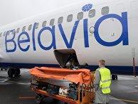 Самолет белорусской авиакомпании «Белавиа»