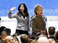 Кандидат в президенты США от Демократической партии Хиллари Клинтон и ее помощница Хума Абедин
