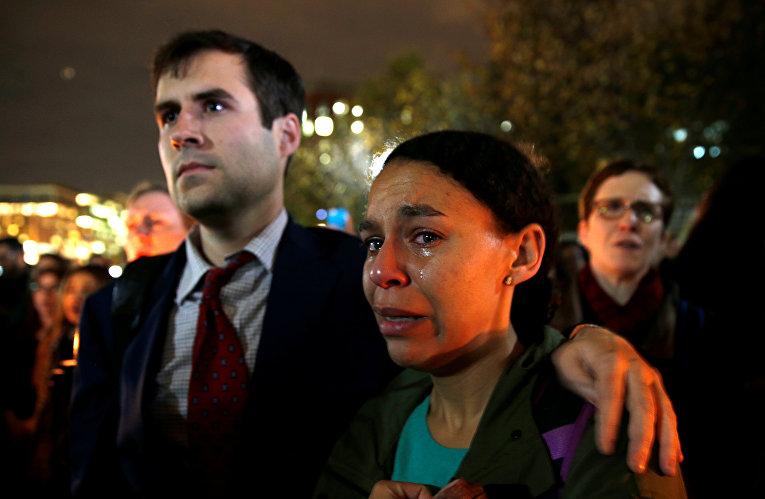 Акция протеста против избрания Дональда Трампа президентом США в Вашингтоне