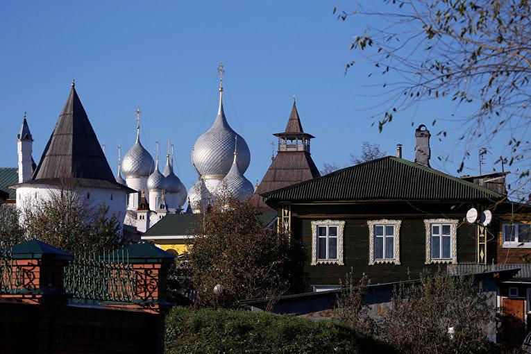 Вид на Ростовский кремль, Ярославская область
