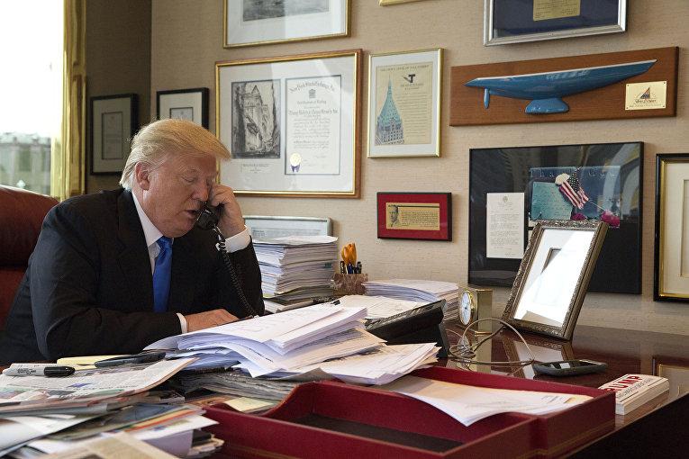 Интервью с кандидат в президенты США Дональдом Трампом