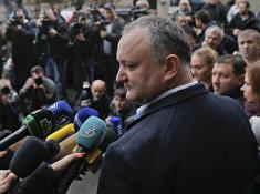 Кандидат в президенты Молдавии от социалистов Игорь Додон