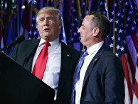 Избранный президент Дональд Трамп и руководитель национального комитета Республиканской партии Райнс Прибус