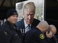 Портрет кандидата в президенты США Дональда Трампа в Милуоки
