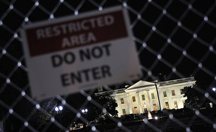 Белый дом в Вашингтоне во время президентских выборов в США