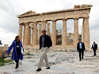 Президент США Барак Обама в Афинах, Греция