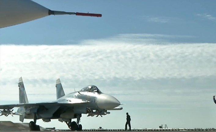 Истребители немогут взлететь сроссийского авианосца вСирии