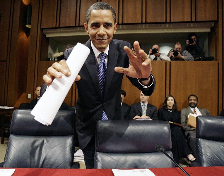 Кандидат в президенты США сенатор Барак Обама