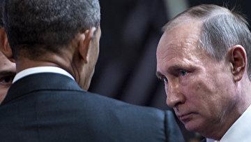 Президент США Барак Обама и президент РФ Владимир Путин на саммите АТЭС