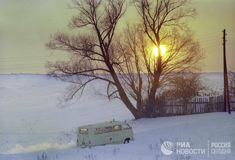Машина скорой помощи Тульской областной больницы