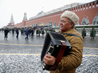 Участник исторического парада на Красной площади