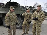 Солдаты армии США в Риге во время военных учений Dragoon Ride в Латвии