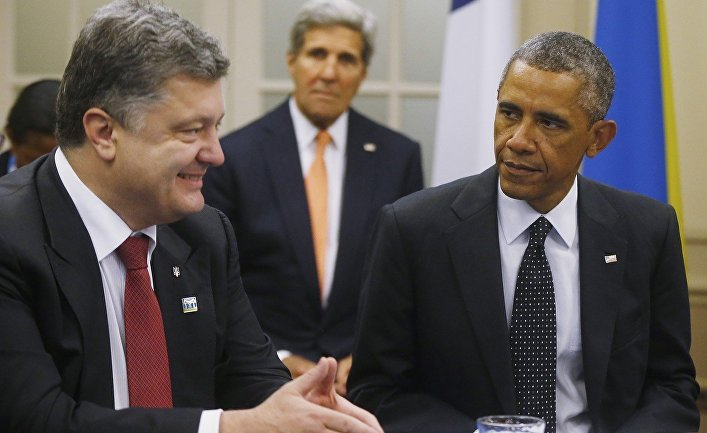 Петр Порошенко и Барак Обама на саммите НАТО в Уэльсе