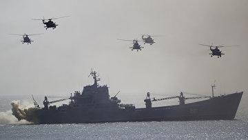 Морские военные учения в Крыму