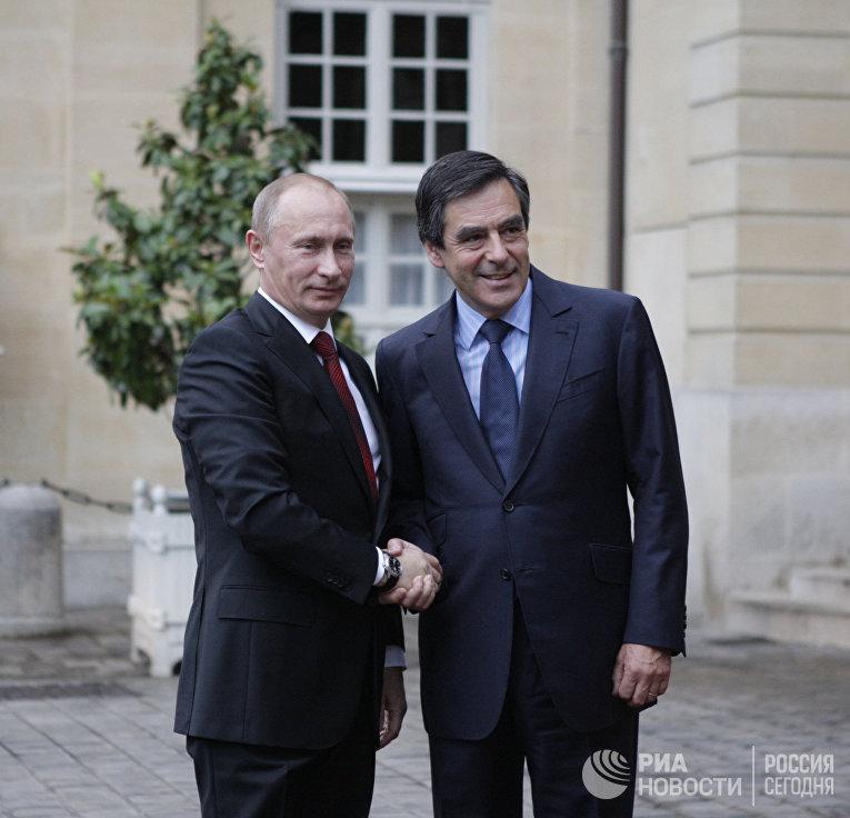 Встреча премьер-министров России и Франции