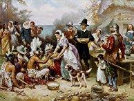 Первый День благодарения. Картина Дж. Л. Ферриса