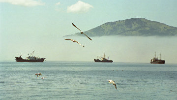 Добыча рыбы на Курилах