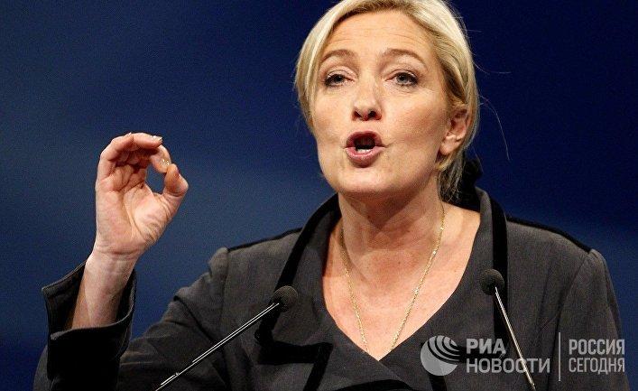 Лидер партии «Национальный фронт» Марин Ле Пен