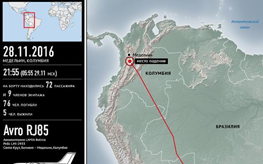 Крушение самолета в Колумбии