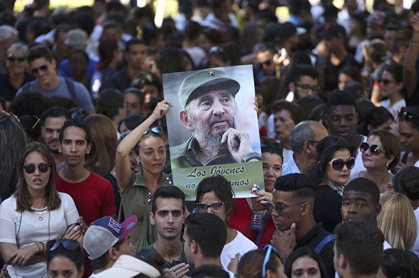 Церемония прощания с Фиделем Кастро в Гаване