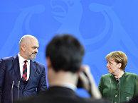 Канцлер Германии Ангела Меркель и премьер-министр Албании Эди Рама