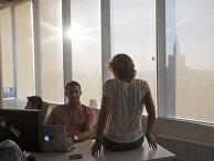 Сотрудники Mail.Ru Group в офисе компании в Москве