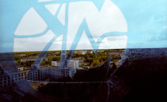 Вид на Новосибирский Академгородок через сигму