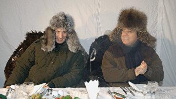 Президент РФ Владимир Путин и премьер-министр Италии Сильвио Берлускони