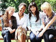 Компания девушек