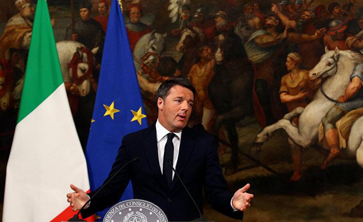 Президент Италии попросил Маттео Ренци отложить отставку
