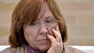 Белорусская писательница Светлана Алексиевич на книжной ярмарке в Боготе