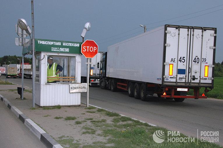 На таможенно-пропускном пункте «Красное» на границе с Белоруссией