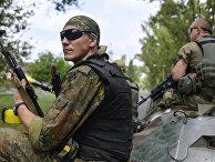 Украинские военнослужащие в Авдеевке