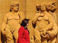 Выставка песчаных скульптур под открытым небом Коломенском парке