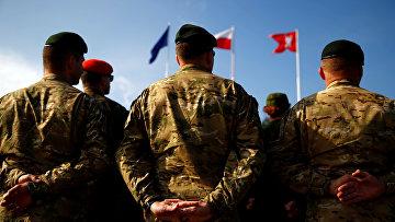 Церемония открытия международных военных учений НАТО Noble Sword-14 в Польше