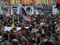 Участники митинга оппозиции на Болотной площади