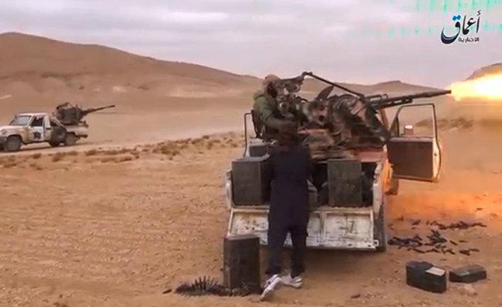 Боевики террористической группировки «Исламское государство» (ИГ, запрещена в России) в районе Пальмиры
