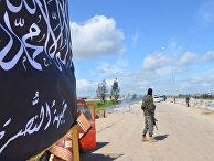 Блокпост боевиков «Фронта Ан-Нусра» на въезде в Идлиб