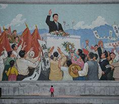 Масштабная мозаика в Пхеньяне