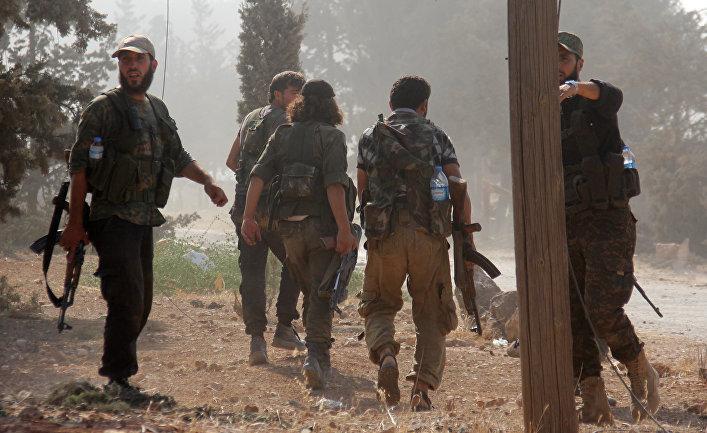 Бойцы «Джебхат Фатах аш-Шам» в Алеппо
