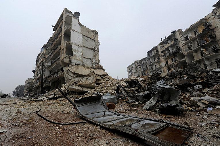 Освобожденный квартал Алеппо