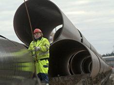 Трубы для газопровода OPAL на севере Германии