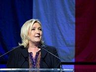 Лидер политической партии «Национальный фронт» Марин Ле Пен после итогов региональных выборов в северной Франции